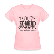 T-Shirts ~ Women's T-Shirt ~ Team Edward- I I Run Vampires Tee