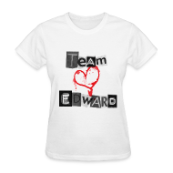 T-Shirts ~ Women's T-Shirt ~ Team Edward Heart Tee