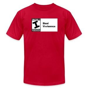 Blood Violence ESRB - Men's T-Shirt by American Apparel