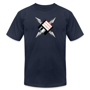 Floppy Disk Ninja Star - Men's T-Shirt by American Apparel
