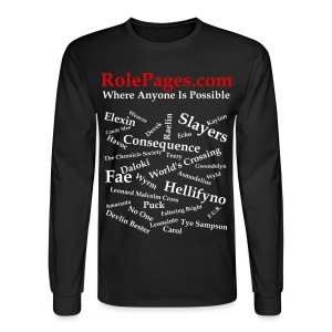 Men's Long Sleeve Tee - Character Names White Lettering - Men's Long Sleeve T-Shirt
