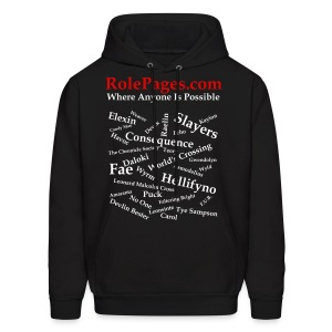 Men's Hooded Sweatshirt - Character Names White Lettering - Men's Hoodie