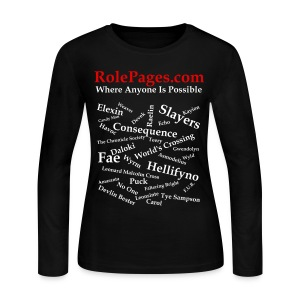 Women's Long Sleeve Jersey Tee - Character Names White Lettering - Women's Long Sleeve Jersey T-Shirt