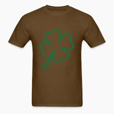 Brown shamrock white T-Shirts