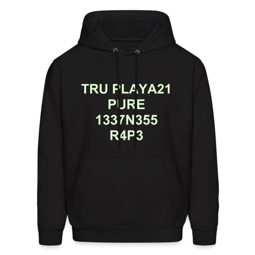 Men's Hoodie - This is just like the neon green shirt except it glows in the dark