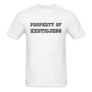 PROPERTY OF: Black Text - Men's T-Shirt