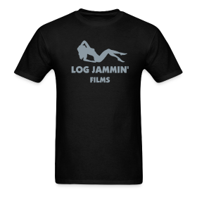LOG JAMMIN' T-Shirt - Metallic Silver Design ~ 351