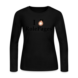 Women's Long Sleeve Jersey Tee - Lightbulb Love Black Lettering - Women's Long Sleeve Jersey T-Shirt