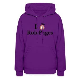 Women's Hooded Sweatshirt - Lightbulb Love Black Lettering - Women's Hoodie