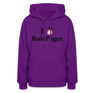 Women's Hooded Sweatshirt - Lightbulb Love Black Lettering - Women's Hoodie