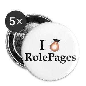 Large Buttons - Lightbulb Love Black Lettering - Large Buttons