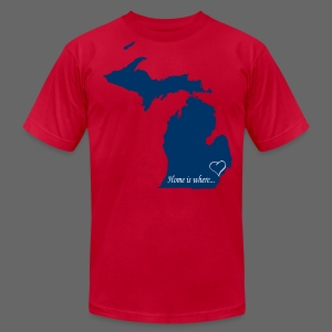 Home is where... Men's American Apparel Tee - Men's Fine Jersey T-Shirt