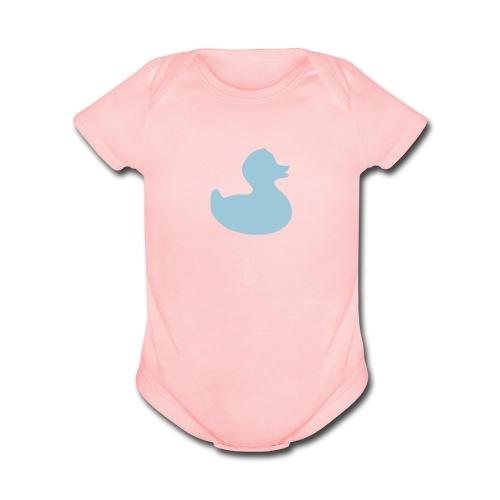boy duckie - Organic Short Sleeve Baby Bodysuit