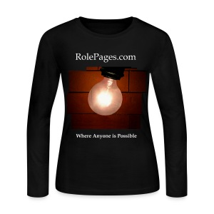 Women's Long Sleeve Jersey Tee - Brick Bulb White Lettering - Women's Long Sleeve Jersey T-Shirt