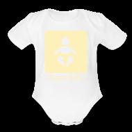 Baby Bodysuits ~ Baby Short Sleeve One Piece ~ giant baby - yellow