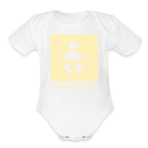 giant baby - yellow - Short Sleeve Baby Bodysuit