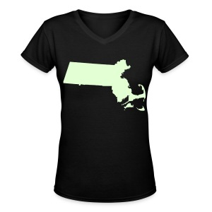 Just Mass Glow in the Dark Women's V-Neck T-Shirt - Women's V-Neck T-Shirt