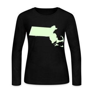 Just Mass Glow in the Dark Women's Long Sleeve Jersey Tee - Women's Long Sleeve Jersey T-Shirt