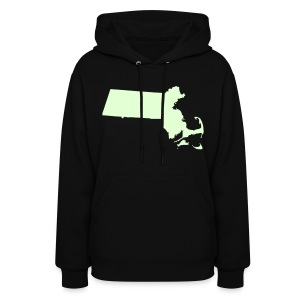 Just Mass Glow in the Dark Women's Hooded Sweatshirt - Women's Hoodie