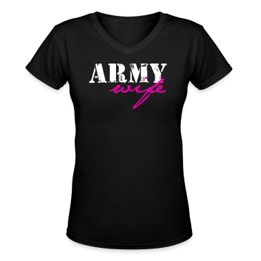 Black army wife Women's T-Shirts