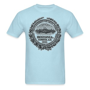 Boston City Seal Men's Lightweight Ringer Tee - Men's T-Shirt