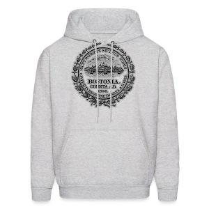 Boston City Seal Men's Hooded Sweatshirt - Men's Hoodie