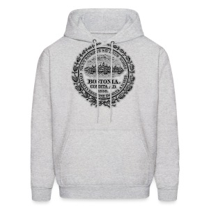 Boston City Seal Men's Hooded Sweatshirt - Men's Hoodie