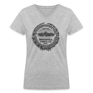 Boston City Seal Women's V-Neck T-Shirt - Women's V-Neck T-Shirt