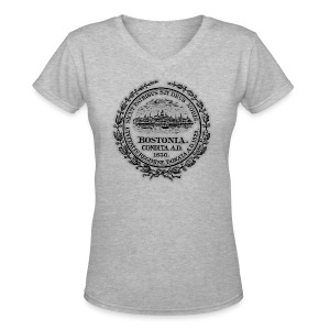 Boston City Seal Women's V-Neck T-Shirt - Women's V-Neck T-Shirt