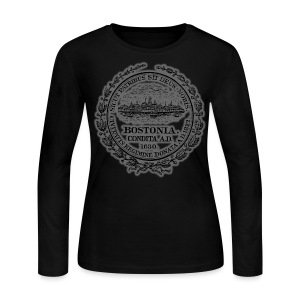 Boston City Seal Women's Long Sleeve Jersey Tee - Women's Long Sleeve Jersey T-Shirt