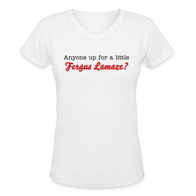 Fergus Lamaze - Women's V-Neck T-Shirt