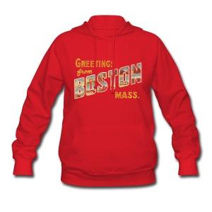 Boston Postcard Wonen's Hooded Sweatshirt - Women's Hoodie