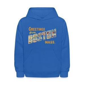 Boston Postcard Kids Hoody - Kids' Hoodie