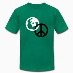 Kelly green world peace T-Shirts