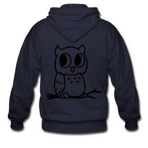 Owl hoodie - Men's Zip Hoodie