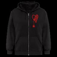 Zip Hoodies & Jackets ~ Men's Zip Hoodie ~ Cobweb Heart Hoodie