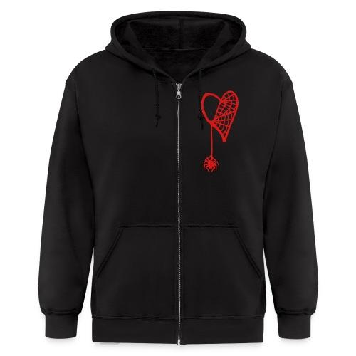 Cobweb Heart Hoodie - Men's Zip Hoodie