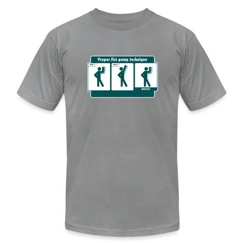 Proper Fist Pump Technique T-Shirt - Men's Fine Jersey T-Shirt