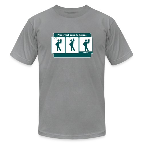 Proper Fist Pump Technique T-Shirt - Men's Fine Jersey T-Shirt