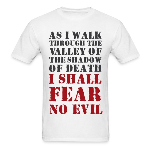 As i walk.. i shall, tier 1 (back) - Men's T-Shirt