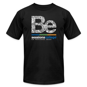 Sessions College - Be a Professional Designer, Men's AA Black - Men's T-Shirt by American Apparel