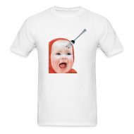 T-Shirts ~ Men's T-Shirt ~ Baby with Fork in Head