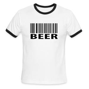 Beer Barcode - Men's Ringer T-Shirt
