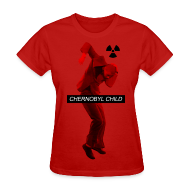 Women's T-Shirts ~ Women's T-Shirt ~ CHERNOBYL CHILD DANCE RED