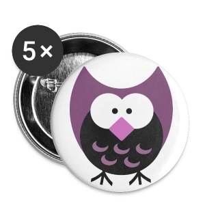 Old School Night Owl Button - Large Buttons