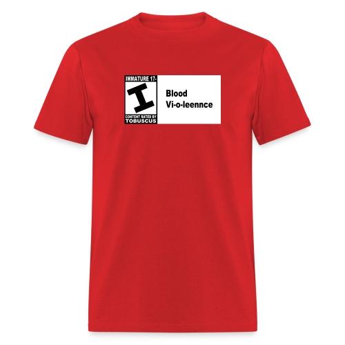 Blood Violence ESRB - Men's T-Shirt
