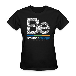 Sessions College - Be a Professional Designer, Women's Standard Black  - Women's T-Shirt