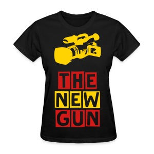 The Camera is the New Gun (Womens) - Women's T-Shirt