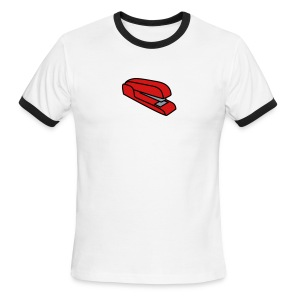 Stapler T-Shirt (White) - Men's Ringer T-Shirt
