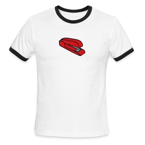 Stapler T-Shirt (White) - Men's Ringer T-Shirt